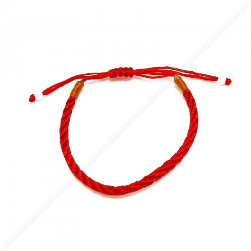 """Красный браслет """"77 узлов"""""""