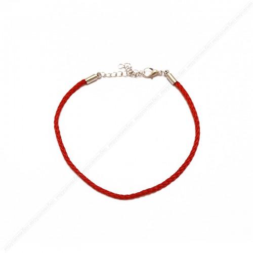 Красная нить с цепочкой (цвет: серебро)
