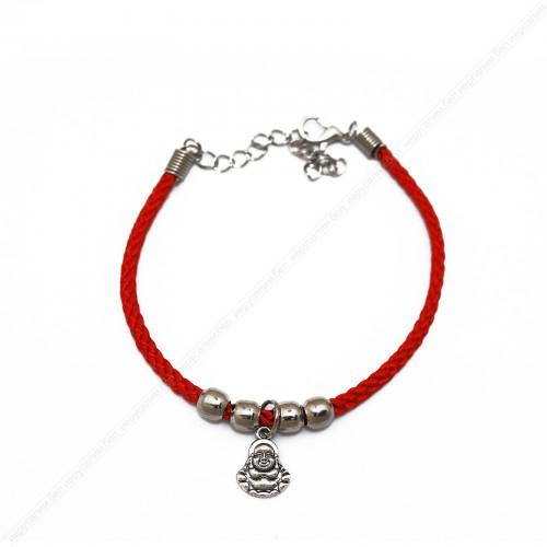 Красный браслет c Буддой