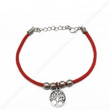 Красный браслет с деревом жизни