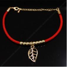 Красный браслет с подвеской №4