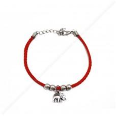 Красный браслет со слоном