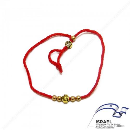 Иерусалимская красная нить с крестом №1