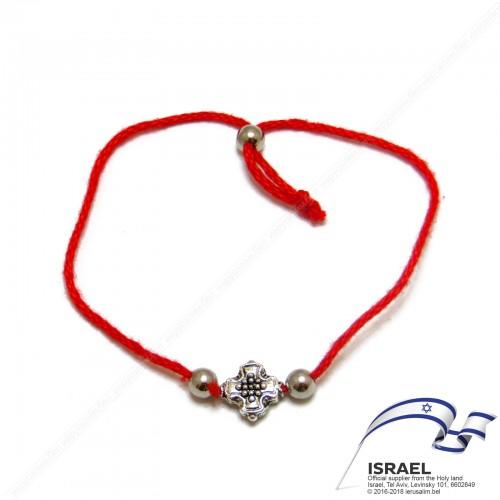 Иерусалимская красная нить с крестом №2