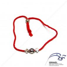 Иерусалимская красная нить с крестом №3