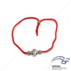 Иерусалимская красная нить с крестом №4