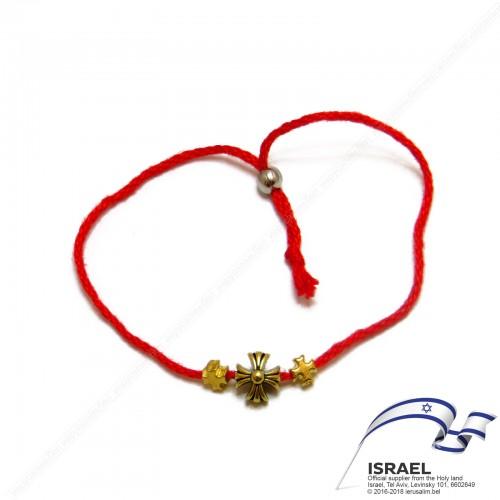 Иерусалимская красная нить с крестом №5