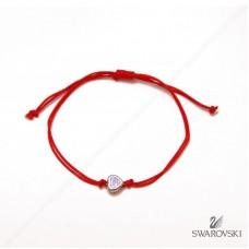 Красная нить с подвеской Сердечко