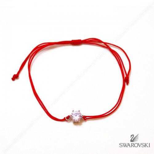 Красная нить с подвеской Многогранный кристалл