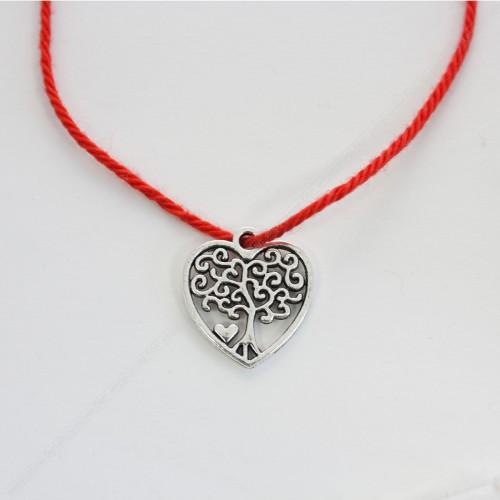 Красная нить оберег с сердцем и деревом жизни