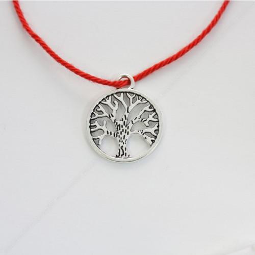 Красная нить с подвеской Дерево Жизни - защита и развитие