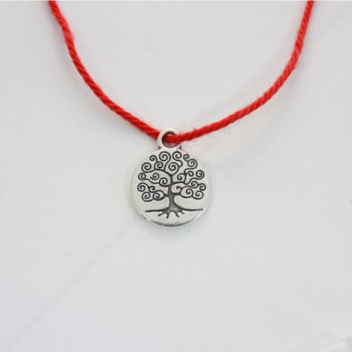 Красная нить с амулетом Дерево Жизни - защита и развитие