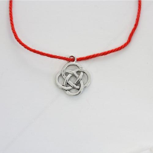 Красная нить с амулетом Защита четырёх стихий кельтский узел