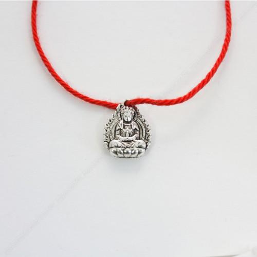 Красная нить с оберегом Буддой - защита и духовное развитие
